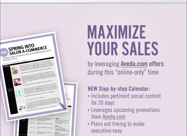 Maximize your sales by leveraging aveda.com offers