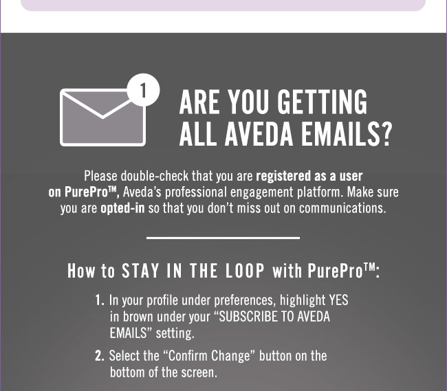Stay in the loop with PurePro(tm)