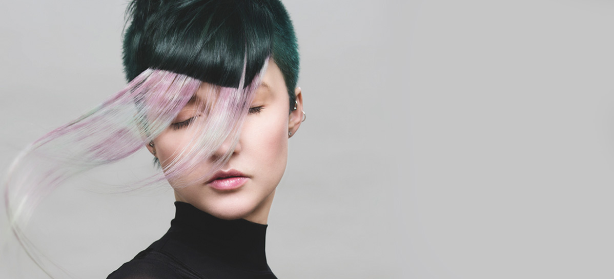 Lesley Spencer, 2017 NAHA Color Finalist. Aveda Institute & Academy Toronto, @whosly. Photographer: Natasha Gerschon, Cut: Tracy Newton, Wardrobe Stylist: Thea Acierno, Makeup Artist: Hassan Haque.