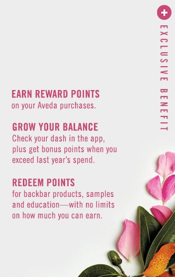 Aveda Pure Rewards Benefit Program