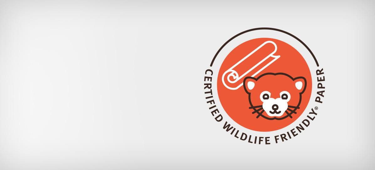 Certified Wildlife Friendly Paper - Aveda